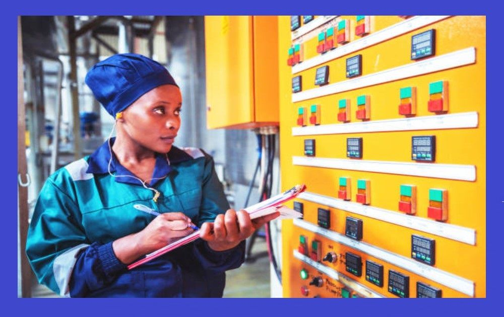 Electrical engineer lady